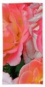 Rainbow Of Roses Bath Towel
