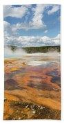 Rainbow Pool In Yellowstone National Park Bath Towel