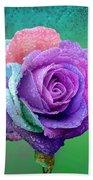 Rainbow Rose Hand Towel