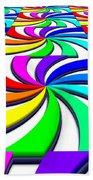 Rainbow Spectral Swirl Bath Towel