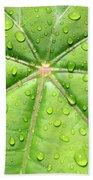 Raindrops On Leaf Bath Towel