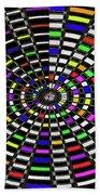 Random Color Oval Abstract Bath Towel