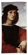 Raphael Portrait Of Agnolo Doni Bath Towel