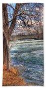 Rapids In Fall Bath Towel