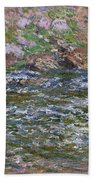 Rapids On The Petite Creuse At Fresselines, 1889 Bath Towel