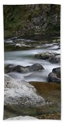 Rapids On The Washougal River Bath Towel