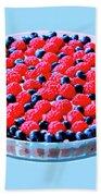 Raspberry And Blueberry Tart Bath Towel