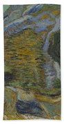 Ravine With A Small Stream Saint Remyde Provence  October 1889 Vincent Van Gogh 1853  1890 Bath Towel