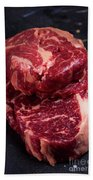 Raw Beef Steak Bath Towel