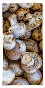 Raw Mushrooms Bath Towel