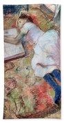 Reader Lying Down Hand Towel