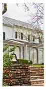 Rear Of Eisenhower Home In Gettysburg National Military Park-pennsylvania Bath Towel