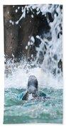 Rear View Penguin Bath Towel