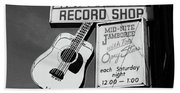 Record Shop- By Linda Woods Hand Towel