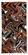 Recurring Pattern Abstract Bath Towel