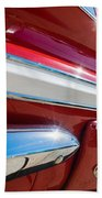 Red 1960 Chevy Low Rider Bath Towel