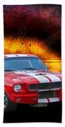Red 1966 Mustang Fastback Bath Towel