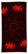 Red Abstract 031211 Bath Towel