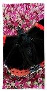 Red Admiral Butterfly Vanesa Atalanta Bath Towel