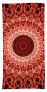 Red And Orange Mandala Bath Towel