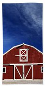 Red And White Barn Bath Towel