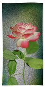 Red And White Rose5 Cutout Bath Towel