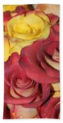 Red And Yellow Roses Bath Towel
