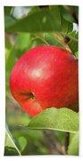 Red Apple On A Tree Bath Towel