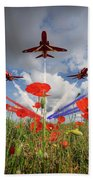 Red Arrows Poppy Fly Past Bath Towel