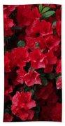 Red Azalea Blooms Bath Towel