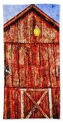 Red Barn Bath Towel