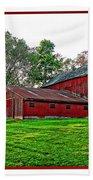 Red Barn In Ohio Bath Towel
