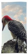 Red-bellied Woodpecker - Tree Top Bath Towel