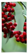 Red Berries Bath Towel