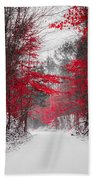 Red Blossoms  Bath Towel
