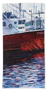 Red Boats Bath Towel