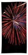 Red Burst Bath Towel