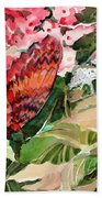 Red Butterfly Bath Towel
