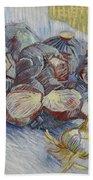 Red Cabbages And Onions Paris, October - November 1887 Vincent Van Gogh 1853  1890 Bath Towel
