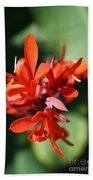 Red Canna Flower Bath Towel