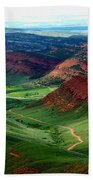 Red Canyon Bath Towel