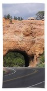 Red Canyon Tunnel Bath Towel