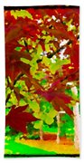 Red Chinese Maple Leaf's Bath Towel