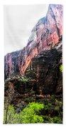 Red Cliffs Zion National Park Utah Usa Bath Towel