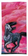 Red Cloud Horse Bath Towel