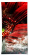 Red Clouds Bath Towel