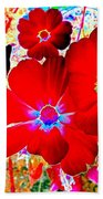Red Cosmos Bath Towel