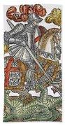 Red Cross Knight, 1598 Bath Towel
