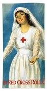 Red Cross Nurse - Ww1 Bath Towel