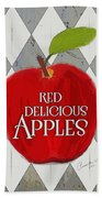 Red Delicious Apples Bath Towel